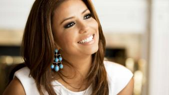 Eva longoria actress celebrity earrings faces wallpaper
