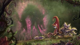 Fae sorceress fantasy art magic video games wallpaper