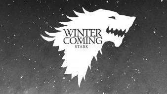 House stark winter is coming crest direwolf wallpaper