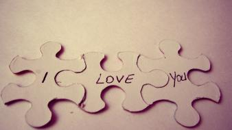 I love you puzzles saying text wallpaper
