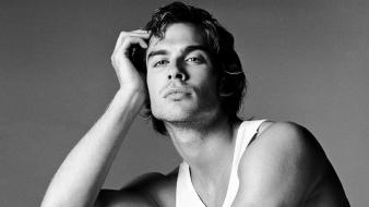 Ian somerhalder actors grayscale men wallpaper