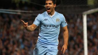 Manchester city sergio aguero premier league soccer wallpaper