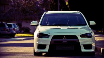 Mitsubishi lancer evolution x cars streets summer wallpaper