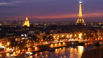Paris cityscapes night wallpaper