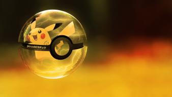 Pikachu poke balls pokemon ubuntu wallpaper