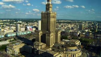 Poland warsaw warszawa cityscapes panorama wallpaper
