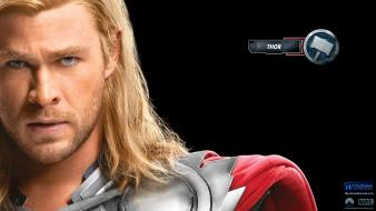 The avengers movie thor faces movie posters wallpaper