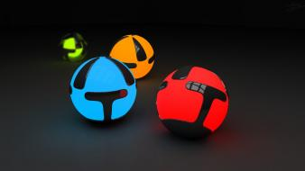 3d abstract balls glowing wallpaper