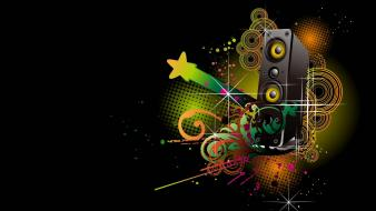 Abstract digital art multicolor music wallpaper