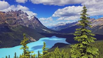 Alberta canada clouds landscapes mountains wallpaper