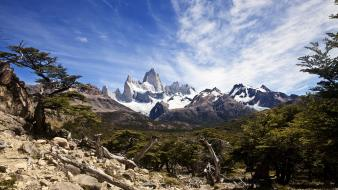 Argentina fitzroy mount patagonia mountains Wallpaper