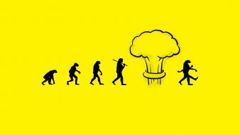 Atomic bomb evolution funny minimalistic nuclear explosions wallpaper