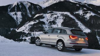 Audi q7 german cars suv mountains Wallpaper