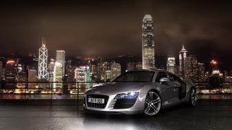 Audi r8 cars night skylines Wallpaper