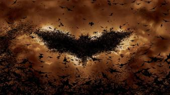 Batman begins bats orange wallpaper