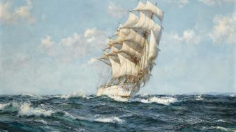Battles paintings pirates sea ships Wallpaper