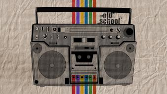 Boombox audioplayer casette player oldschool Wallpaper