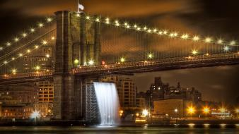 Brooklyn bridge new york city usa bridges cityscapes wallpaper
