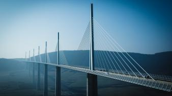 Canon eos 5d france millau viaduct architecture bridges wallpaper