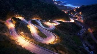 Cars cityscapes drifting roads streets wallpaper