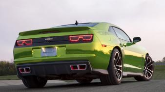 Chevrolet camaro automobiles cars lowangle shot races Wallpaper