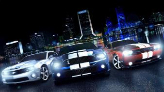 Chevrolet camaro dodge challenger ford mustang cars muscle wallpaper