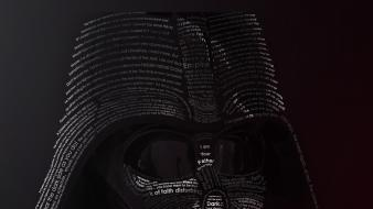 Darth vader star wars movies typographic portrait typography Wallpaper