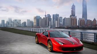 Ferrari 458 italia cars skylines wallpaper