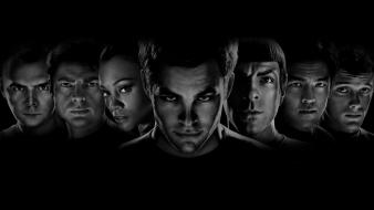 Hollywood star trek usa black and white film wallpaper