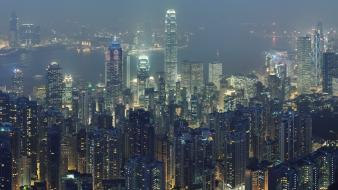 Hong kong the dark knight cityscapes night skylines Wallpaper