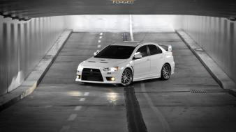 Lancer evolution x black and white cars wallpaper