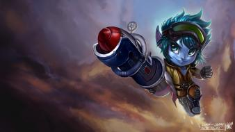 League of legends riot games tristana paintings rocket wallpaper