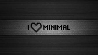 Love minimalistic text wallpaper
