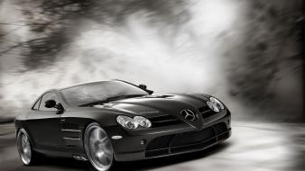 Mercedes benz slr mclaren automobiles cars races racing Wallpaper