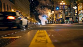 New york city cars macro police streets wallpaper
