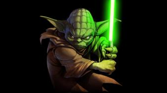 Star wars yoda lightsabers wallpaper