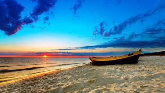 Sun beaches clouds sand sea wallpaper