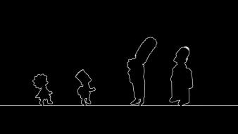 The simpsons black and white silhouettes wallpaper