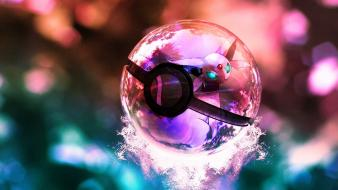 3d poke balls pokemon wallpaper