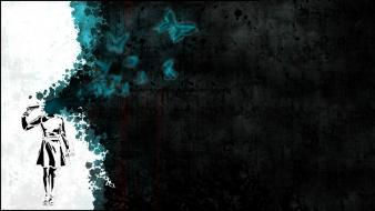 Abstract artwork butterflies digital art suicide wallpaper