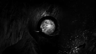Abstract black dark eyes liquid wallpaper