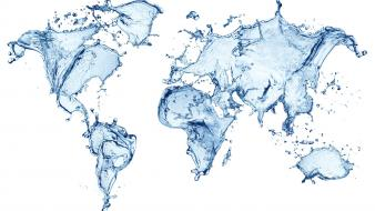 Abstract maps water world map Wallpaper