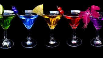 Alcohol cocktail martini multicolor wallpaper