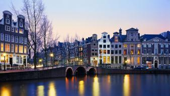 Amsterdam holland architecture cityscapes towns wallpaper