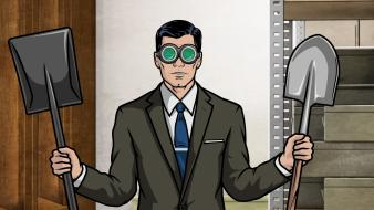 Archer tv secret agent archers glasses shovel wallpaper