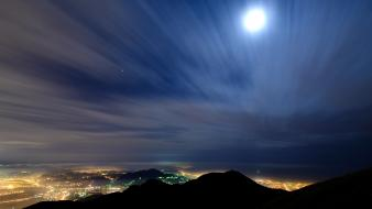 Asia moon taipei taiwan city lights wallpaper