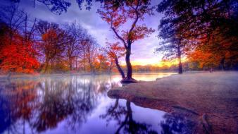 Autumn lakes nature trees Wallpaper