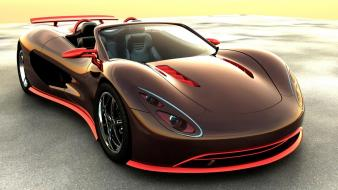 Brown cars concept art sports wallpaper