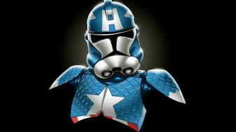 Captain america marvel comics star wars minimalistic stormtroopers wallpaper