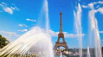 Classic eiffel tower paris architecture nature wallpaper
